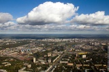 Вид на Ржевку с высоты птичьего полета