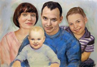 Где заказать семейный портрет маслом на холсте в Санкт-Петербурге?